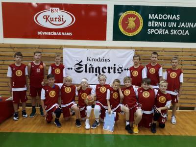 U12 basketbolisti- BBBL un Jaunatnes līgā.