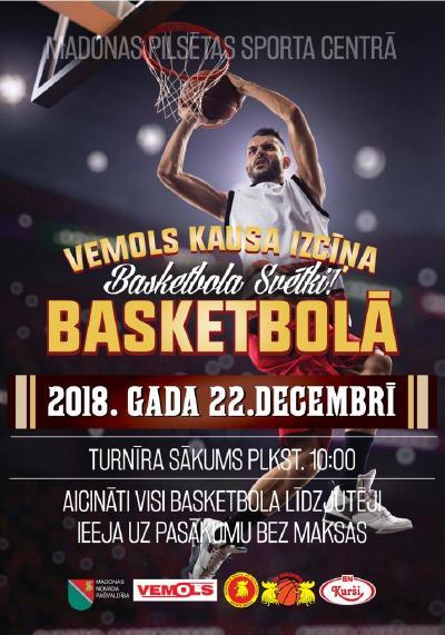 Madonas pilsētas atklātais basketbola turnīrs 22.12.2018.